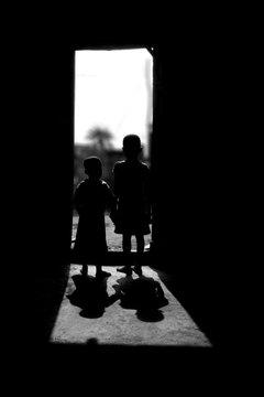 Children siloutte