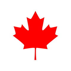 Canadian maple leaf icon. Vector illustration