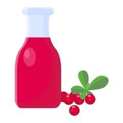 Cranberry juice vector illsutarion.