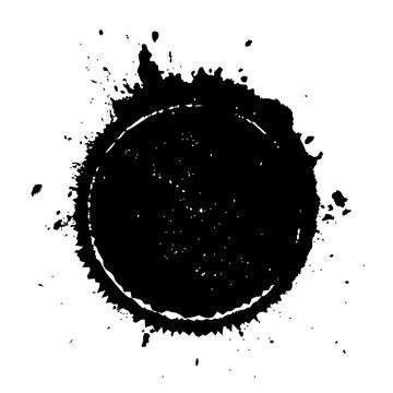 Black blot splatter circle