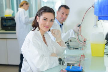 Portrait of laboratory technicians