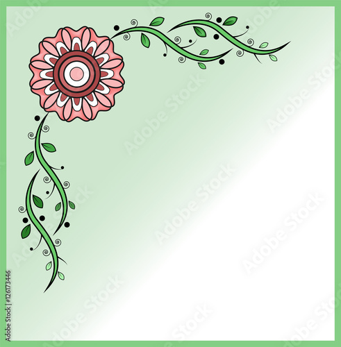Vector Illustration Of A Floral Frame For Greeting Card Cornice