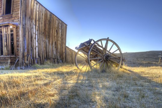 Sunrise and Wagon, Ghost Town of Bodie