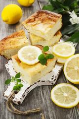 Homemade lemon pie