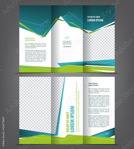 Vector Tri Fold Brochure Template Design Concept Business Trifold - 3 folded brochure template