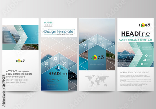 Business Templates Cover Template Flat Design Blue Color