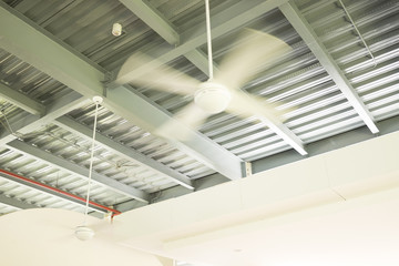 Ceiling fan in factory