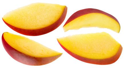 mango slices isolated on the white background