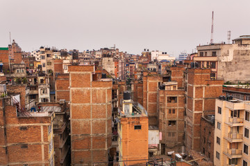 Top view of Kathmandu, Nepal