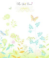 invitation card with Abstract colorful floral butterfly background