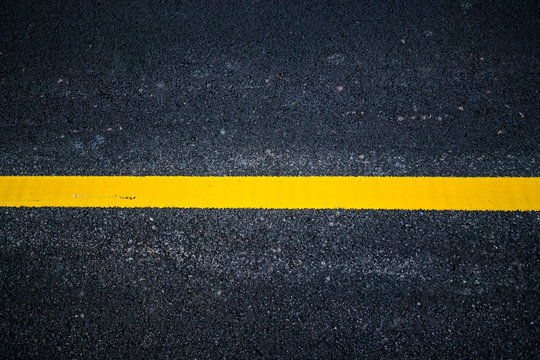 Asphalt with yellow road line