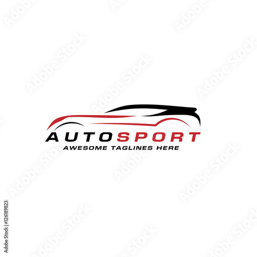 Abstract Car Lines Vector Logo Design Concept Abstract Sport Car