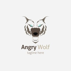 Wolf head Vector Illustration. Illustration of fox head cartoon style