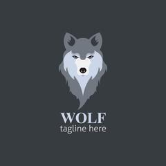 Wolf head Vector Illustration. Illustration of fox head cartoon style