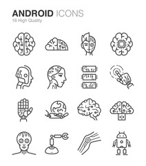 Android and Artificial Intelligence icons