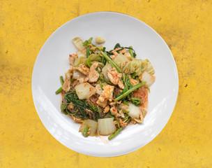 dry suki yaki thai food on dish