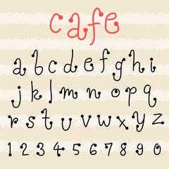 fun  doodle font collection,hand drawn alphabet set