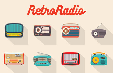 Collection of flat vector radio recievers.