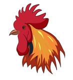 """""""Cute cartoon rooster. Vector clip art illustration"""" Stock ..."""