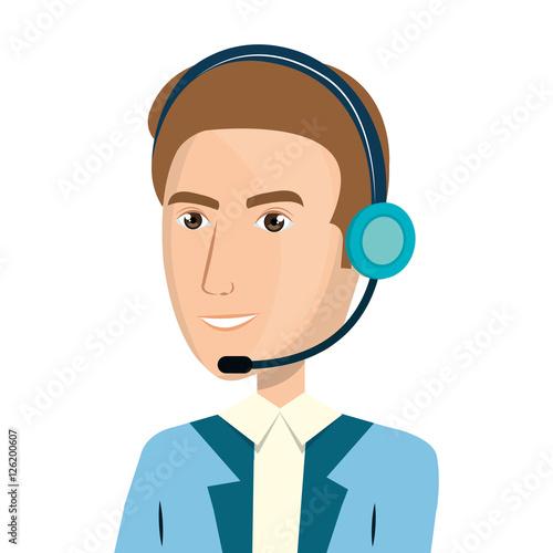 """call Center Agent Avatar Vector Illustration Design"