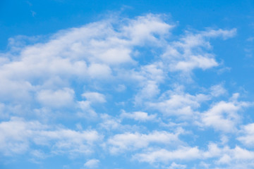blue sky and white cloud texture and background