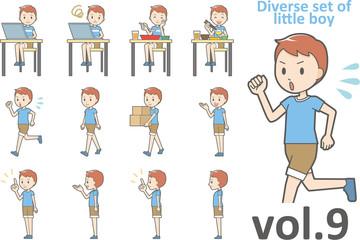 Diverse set of little boy , EPS10 vector format vol.9