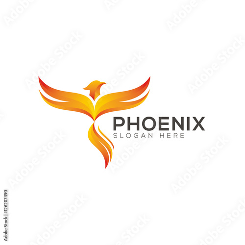 """Phoenix logo design"" Stock image and royalty-free vector ..."