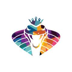 vector snake logo template danger snake icon viper black silhouette