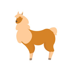 Cartoon Cute Lama Animal. Vector