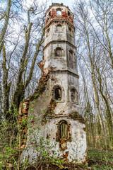 Turmruine der einstigen Kirche Sankt Georg bei Aichach nahe Augsburg als Lost Place