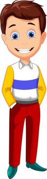 cute fashion man cartoon