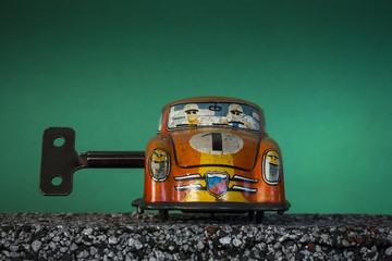 Clockwork toy car