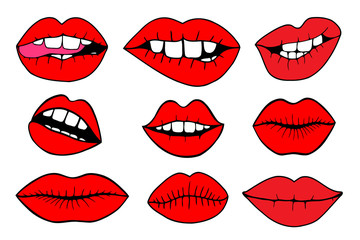 vector illustrations - Sweet lips.
