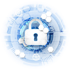 Secure digital space. Virtual confidential, structure point conn