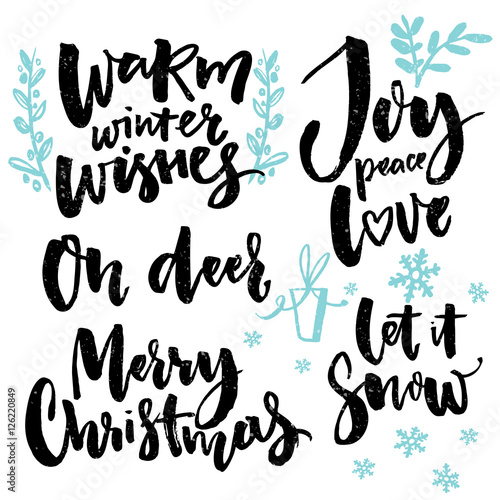 Merry christmas type and seasonal greetings handwritten words for merry christmas type and seasonal greetings handwritten words for greeting cards posters and gift tags m4hsunfo