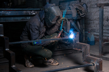 Welder at work