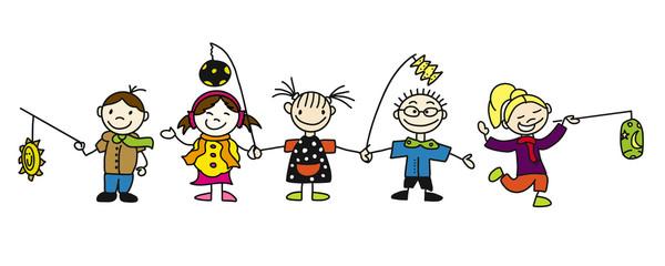 St. Martin Laternenumzug Kindergarten Kinder als Banner