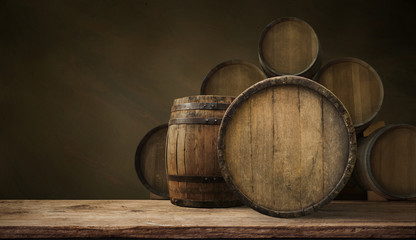background of barrel wood,