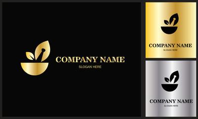 food organic gold logo