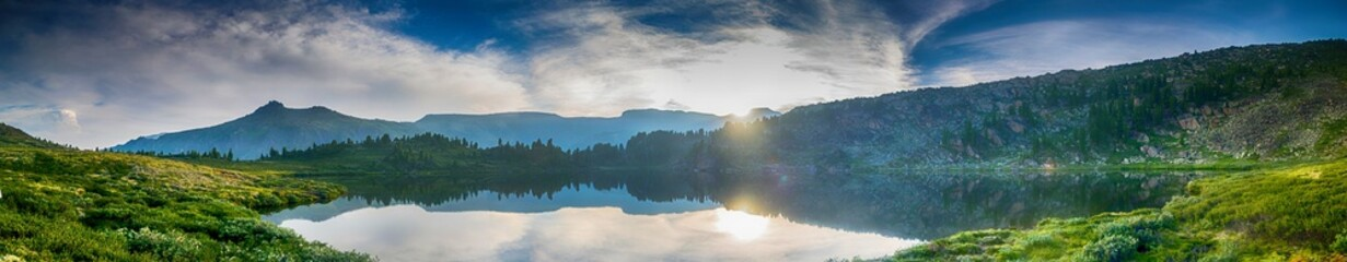 Foto op Canvas Bergen Sunset at Blue Mountain Lake
