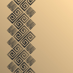 Vector geometric background greek style. Meander vector border for design.