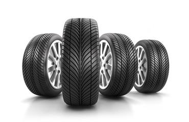 Reifen in 4er-Formation
