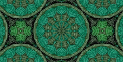 Kaleidoscopic green pattern