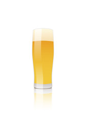 Glass of beer. Lager or Pilsner Vector isolated