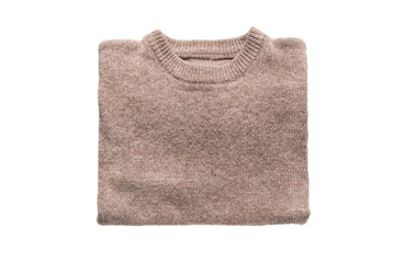Beige folded pullover
