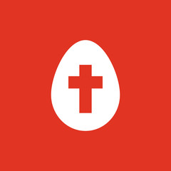 The egg icon. Easter, egg symbol. UI. Web. Logo. Sign. Flat design. App. Stock