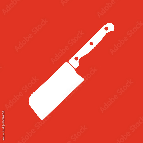 """""""The Knife For Meat Icon. Knife And Chef, Kitchen Symbol"""