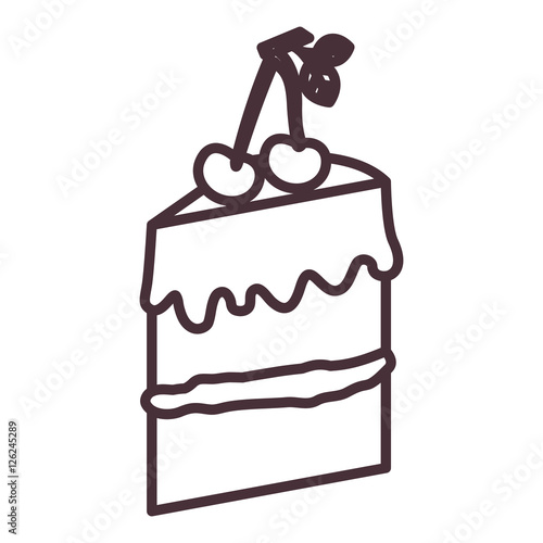 Cake Silhouette Icon Bakery Shop Traditional And Product Theme