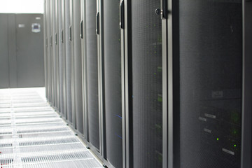 Server Racks in Data Center Server Room