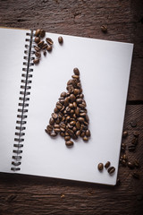 Aluminium Prints Coffee beans Caffee beans christmass tree